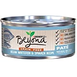Can Best Natural (11) 3 oz Canned Purina Beyond Pate Grain Free Ocean Whitefish and Spinach Recipe Canned Cat Food Treats Favorites Wellness Feast nutrition Gourmet