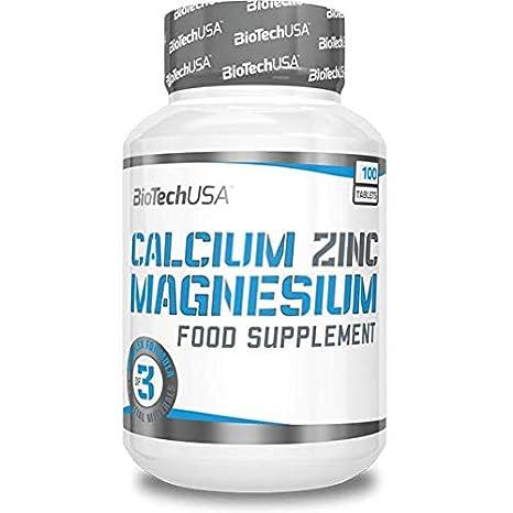 BioTech Calcium Zinc Magnesium Complejos, Sabor sin Sabor - 100 gr: Amazon.es: Salud y cuidado personal