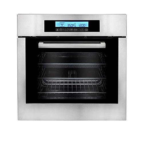 Cosmo C106SIX-PT 24 in. 2 cu. ft. Single Electric Wall Oven with 10 Functions, Faster Cooking Convection and Self-Cleaning in Stainless Steel