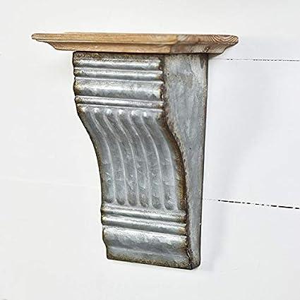 Awe Inspiring Galvanized Metal And Wood Corbel Shelf Wall Sconce Decor Download Free Architecture Designs Lectubocepmadebymaigaardcom