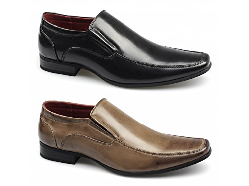 Giovanni OSVALDO Mens Faux Leather Slip On Shoes Tan Tan s9QhVJwq6R