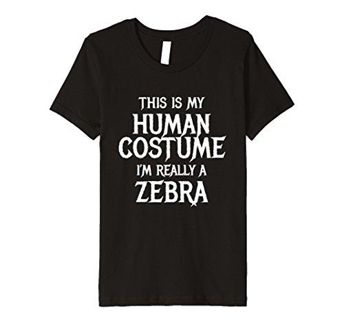 Kids I'm Really a Zebra Tshirt Funny Easy Halloween Costume 12 (Zebra Halloween Costume Diy)