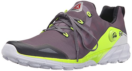Reebok Men's Reebok Zpump Fusion 2.0 Running Shoe, Alloy/Tin Grey/Solar Yellow/Coal/White, 9 M US