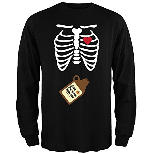 [Little Pumpkin Brewing Baby Pregnant Skeleton Halloween Costume Long Sleeve - X-Large] (Little Girl Skeleton Costumes)