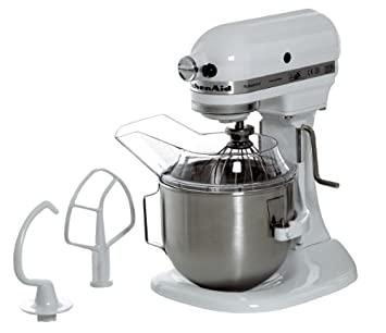 KitchenAid 5KPM5EWH - Batidora amasadora, 315 W, 264 x 338 x 411 mm, color blanco: Amazon.es: Hogar