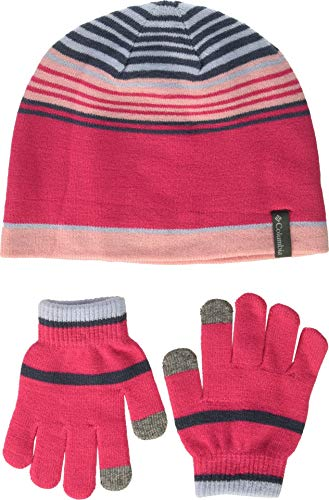 Columbia Kids & Baby Little Kids Hat and Glove Set, Cactus Pink, One -