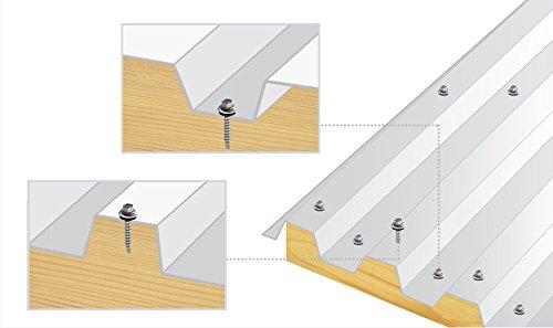 250 pcs 4.8 x 35 mm tete hexagonale vis a toiture m/étal a bois /él/ément de fixation incolore