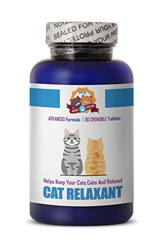PETS HEALTH SOLUTION cat Calming Treats - Relaxant for Cats - Helps Keep Calm - Anxiety Relief - Treats - cat Calming Tablets - 90 Treats (1 - Anxiety 90 Tabs