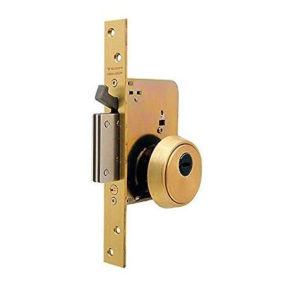 Tesa Assa Abloy R201NT66T Cerradura Monopunto de Seguridad para Puertas de Madera, Acero Inoxidable Cil