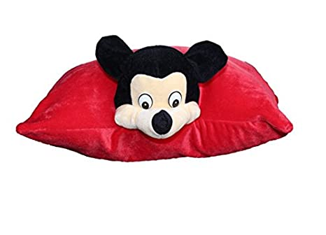 Mouse 2 in 1 red Convertible Pillow/Cushion and Soft Toy for Kids - 50 cm