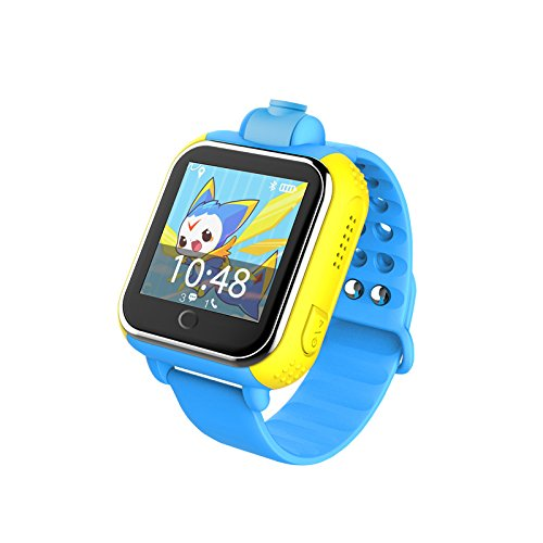 iSTYLE&reg: New Q730 Kids Wristwatch Support SIM card 3G GPRS GPS Locator Tracker Anti-Lost Smart Watch Children Gifts Watch with Camera WIFI SOS for IOS Android Smartphone (Blue)