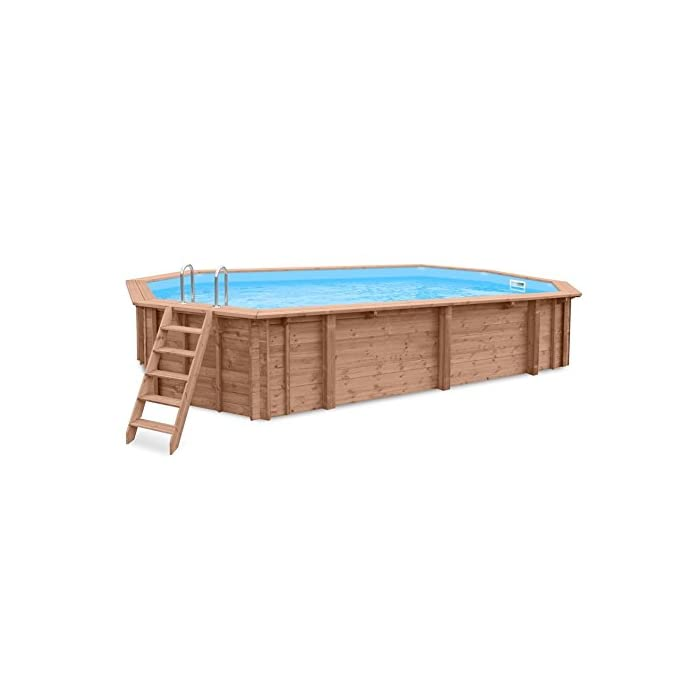 41N5KwJGtbL Piscina de madera para en y de foco empotrable de madera de pino Forma: alargado Tamaño exterior: 814 x 460 x 138 cm