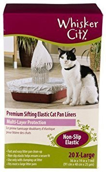 Whisker City Extra Large Cat Sifting Litter Box Liners, 20 (Litter Sifting Liners)
