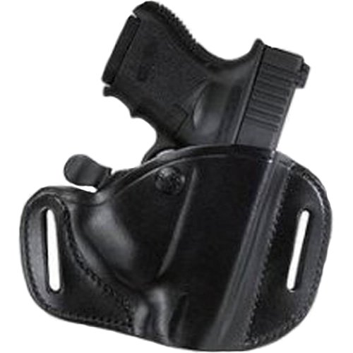 Leather Hip Holster - Bianchi 82 Carrylok Hip Holster - Size: 13 Glock 17 22 (Black, Right Hand)