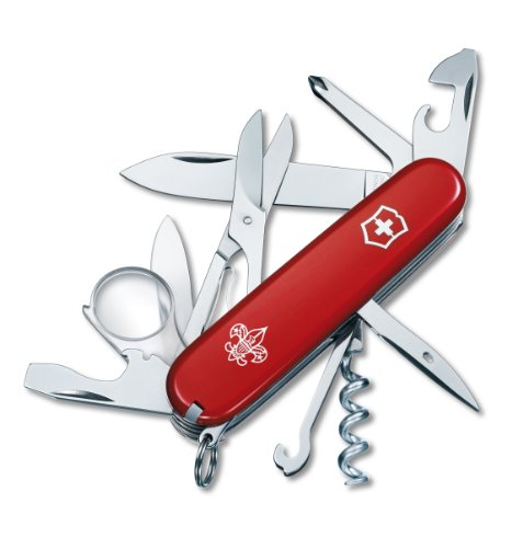 Victorinox Swiss Army Explorer Boy Scout Pocket Knife (Red), Outdoor Stuffs