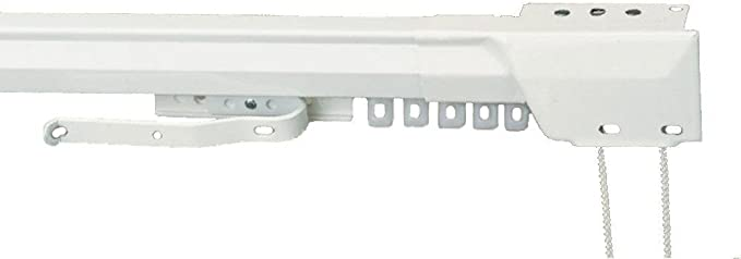 "Amazon.com: Kirsch Superfine Traverse Rod Set 38-66"" one-Way Draw Cord Right"