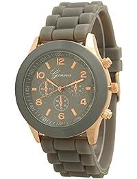 Geneva Silicone Watch Unisex Sports Wrist Watch Boyfriend Dial