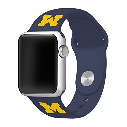 Michigan Wolverines 42mm Silicone Sport Band fits Apple Watch - BAND ONLY Series Watch College Watches