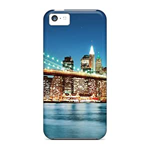 Fge8226CUNH Anti-scratch Cases Covers DanLuneau Protective New York City Night Lights Cases For Iphone 5c