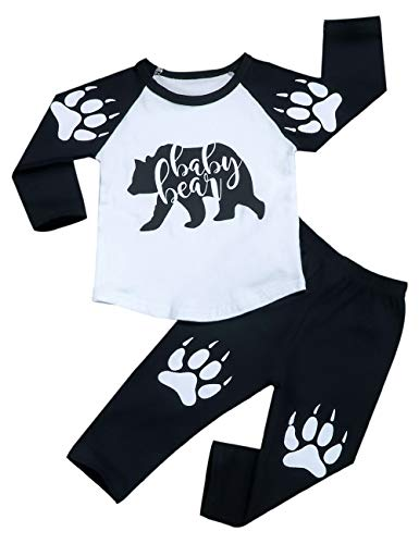 Toddler Baby Boy Clothes Baby Bear Letter Print Long for sale  Delivered anywhere in USA