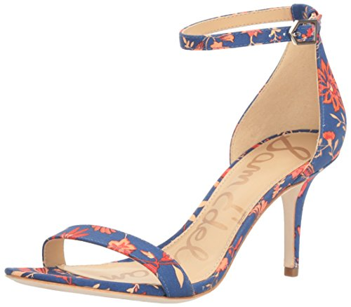 Sam Edelman Sandalias de vestir, Mujer Blue/Multi Festival Floral Print