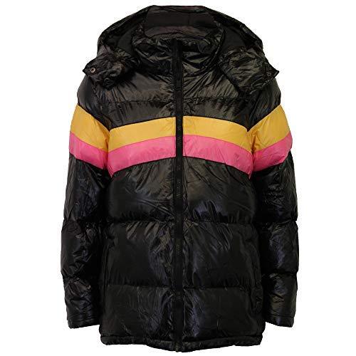 aea3888c6 Brave Soul Ladies Patent Shine Puffer Jacket Womens Coat Hooded ...