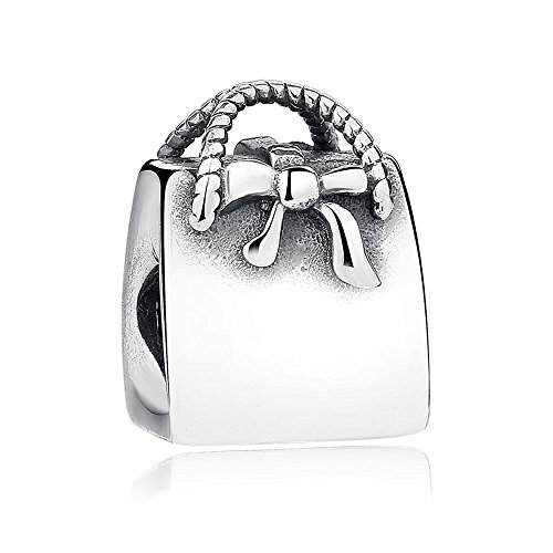 Everbling Chic Lady Fashion Bag Perfume 925 Sterling Silver Bead Fits European Charm Bracelet (Lady's Handbag) - Chic Handbag Charm