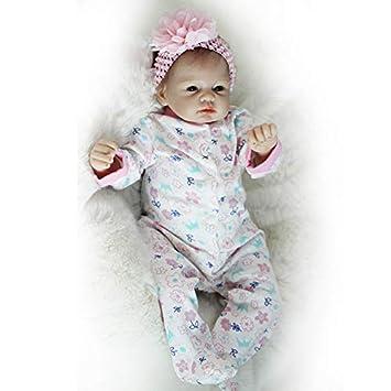 Nicery Reborn Babypuppe Weich Silikon Vinyl für Jungen und Mädchen Geburtstagsgeschenk 48-50cm Dolls gx55-4ode