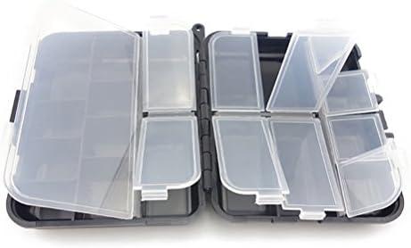 Vorcool - Caja para equipo de pesca o porta clavos y tornillos con compartimentos de plástico: Amazon.es: Hogar