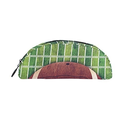 Estuche para lápices, diseño de balón de fútbol americano y bolígrafo deportivo, bolsa de papelería con cierre,...