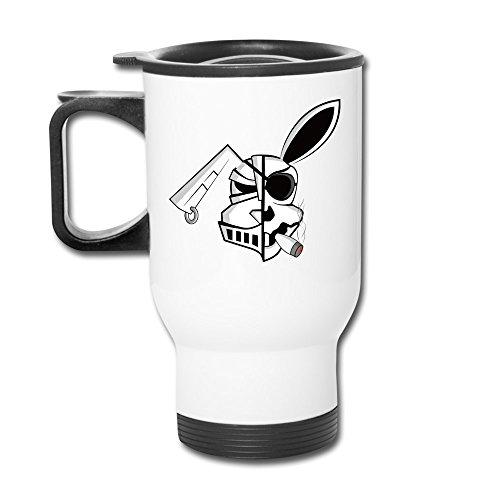 (12 Oz Travel Mug - Gunbunny Bunny Smoke Mug)