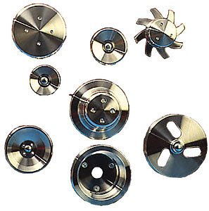 March Performance 5070 Clear Powdercoat Aluminum V-Belt Pulley Kit - Set of 3 by MARCH