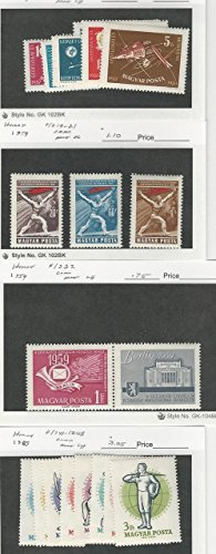Hungary, Postage Stamp, 1212-21, 1232, 1241-48 Mint LH, 1959