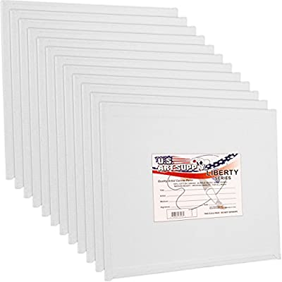 US Art Supply 12 X 12 inch Professional Artist Quality Acid Free Canvas Panels 12-Pack (1 Full Case of 12 Single Canvas Panels)