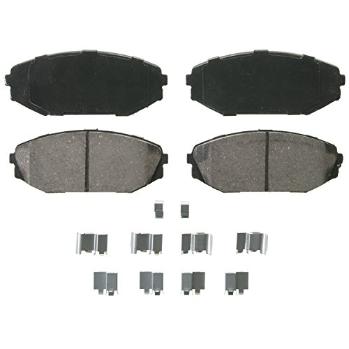 Wagner QuickStop ZD793 Ceramic Disc Pad Set Includes Pad Installation Hardware, Front