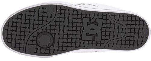 DC Pure Weiß Grau Leder Herren Skate Sneaker Schuhe Stiefel