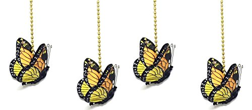 (WeeZ Industries - Monarch Butterfly Ceiling Fan Pull Chain Extension Ornament 6