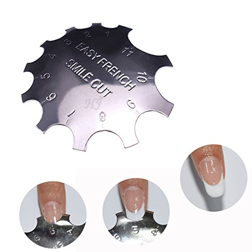 C-Shade Easy French Smile Line Nail Art Manicure Edge Trimmer Nail Cutter Acrylic Tool with 11 Sizes
