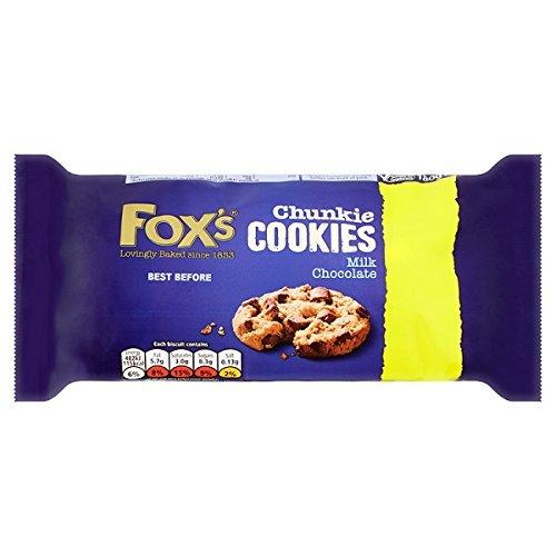 Chunkie galletas Leche 180 g de chocolate de Fox (Pack de 9 x 180g)