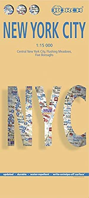 Nueva York plano callejero plastificado. Escala 1:15.000. Borch. Borch Map: Amazon.es: VV.AA.: Libros