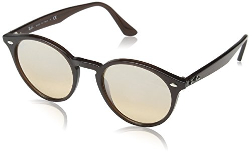 Ray-Ban Injected Man Sunglasses - Opal Brown Frame Brown Mirror Gradient Lenses 51mm ()