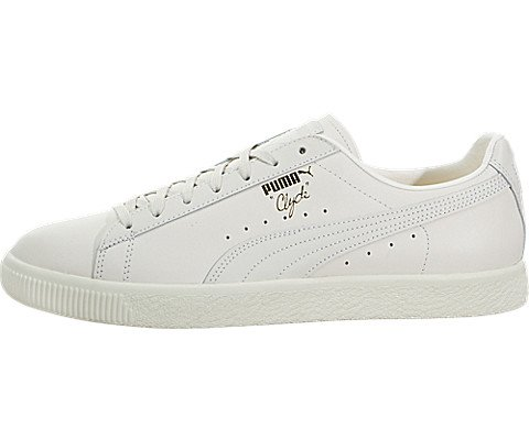 on sale 44125 23cfb PUMA Select Men's Clyde Natural Sneakers, Star White, 10.5 D(M) US