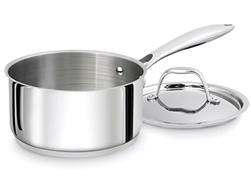 Utopia Kitchen 2 Quart Sauce Pan with Lid - Induction Compatible Stainless Steel Saucepan - Dishwasher Safe by Utopia Kitchen (Image #1)