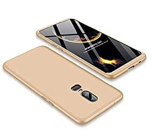 oneplus 6 Case matte phone case 360 Full Protection Cover Case -gold