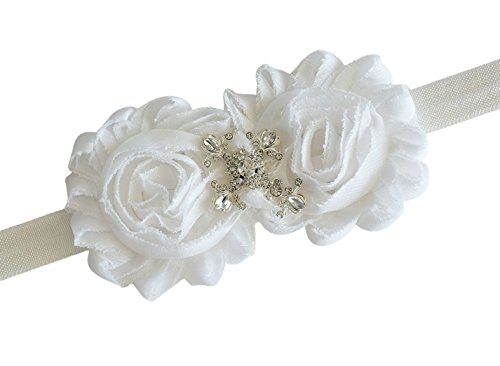 Christening Baptism Cross White Headband Infant Baby Newborn Girl - Posh Girl Baby