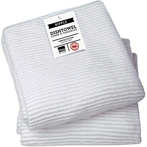 - Now Designs Ripple Kitchen Towel, Set of 2, White