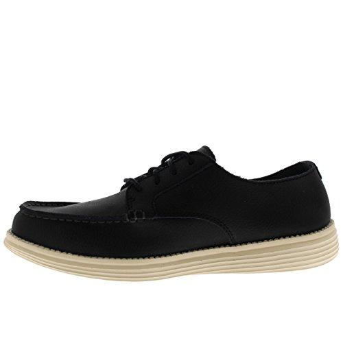 Hombre Status Lerado Mocasines Skechers para Negro Y5qdwI