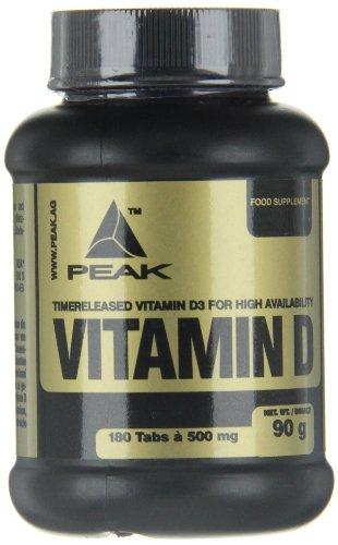 Peak Vitamin D, 180 Tabletten, 1-er Pack (1 x 90 g)