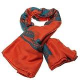 DatConShop(TM) Women Lady Printed Leaf Cotton Scarf Shawl Wrap Soft Warm Fashion Gift Orange