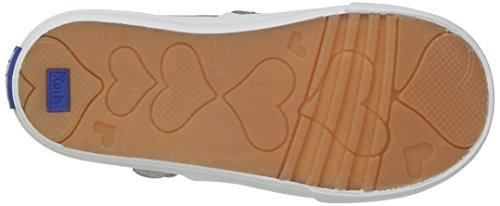 Keds Daphne T-Strap Sneaker (Toddler/Little Kid), Silver/Silver, 5.5 M US Toddler by Keds (Image #3)